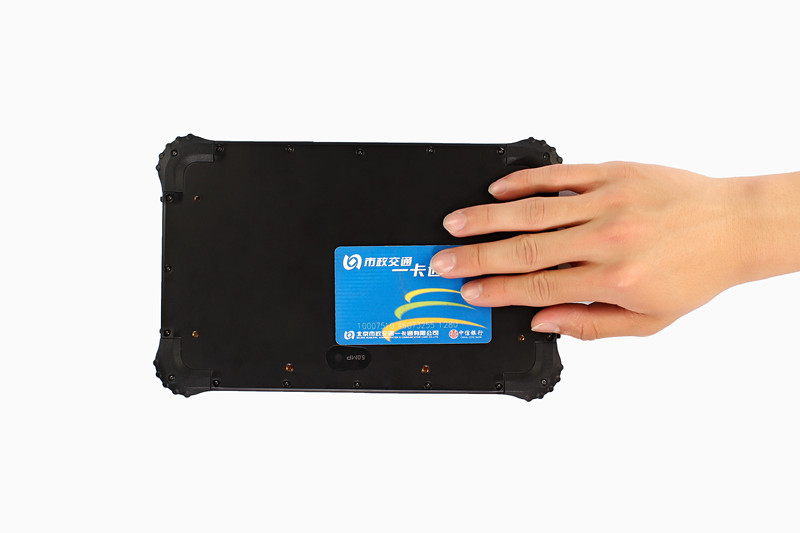 Waterproof Windows Tablet RuggedT W2H reading NFC card