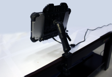 Vehicle mount for industrial tablet RuggedT W2h