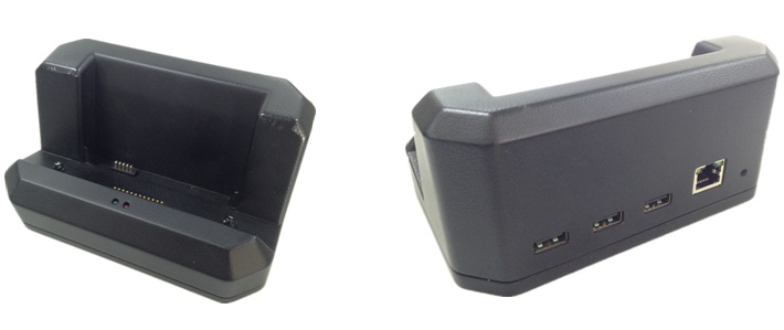Office docking for rugged tablet