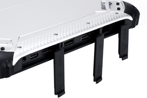 Indestructible Tab RuggedT W3H is equipped with a wide Range Of IO Ports