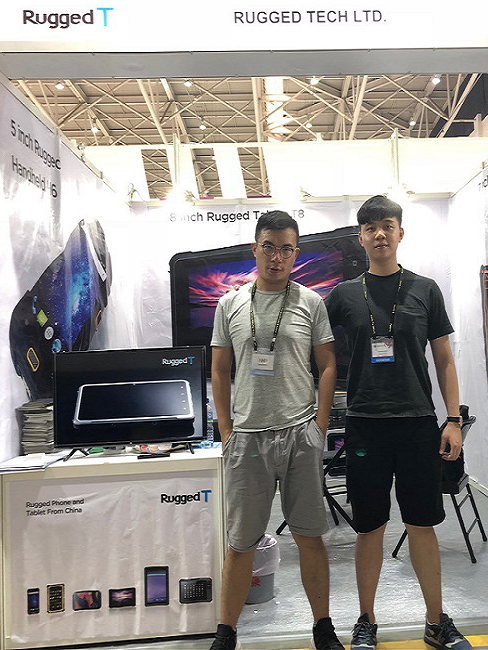 Rugged Tech professionals at exhibition