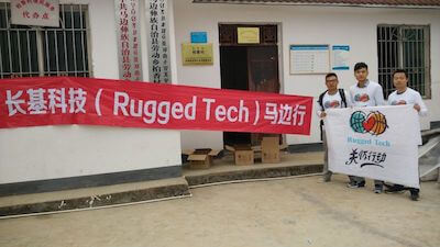 Rugged Tech CO. LTD members made donation to school
